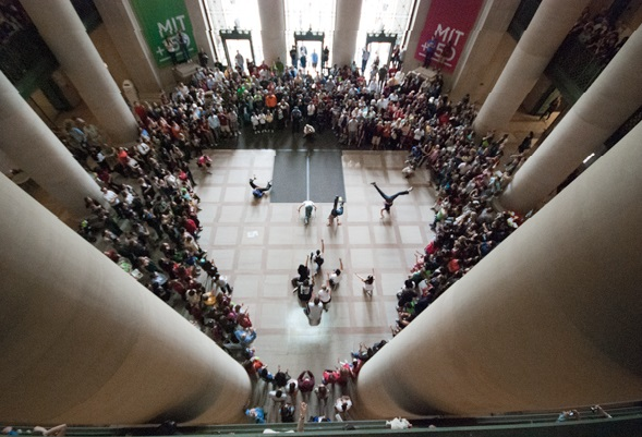 boston college flash mob