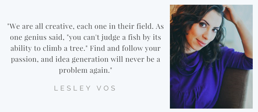 Lesley Vos quote