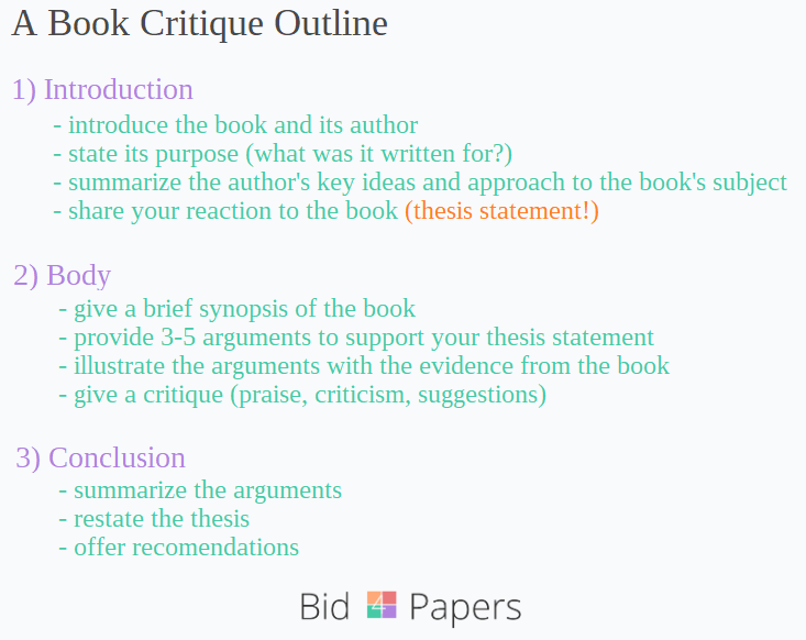 Critique essay outline
