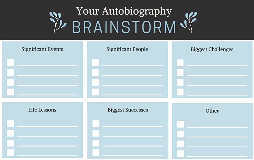 autobiography-brainstorm