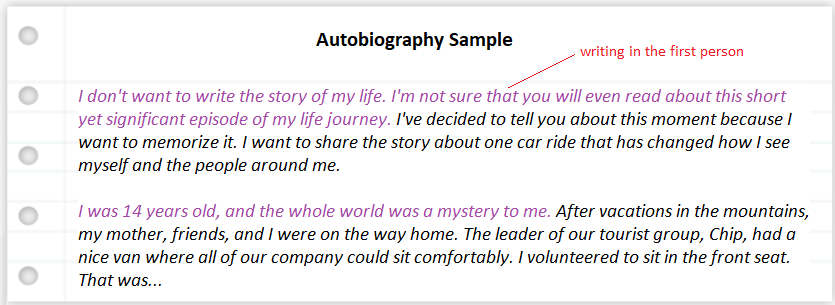 how-to-write-autobiography-sample