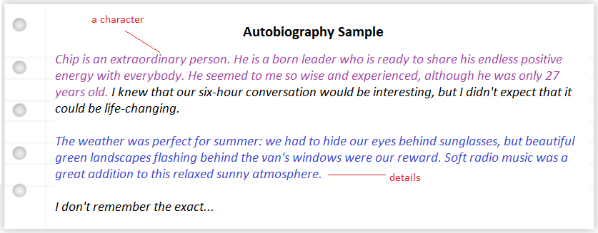 how-to-write-an-autobiography-sample